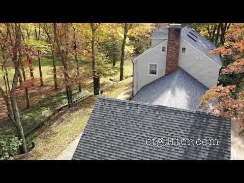 Another successful Connecticut Gutter LLC project which included full roof replacement with Owens-Corning