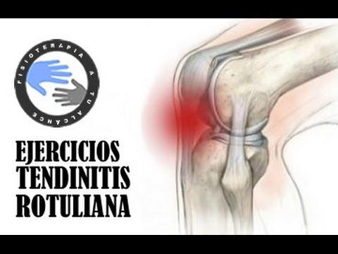 La imposición de un vendaje de presión sobre la articulación de la rodilla