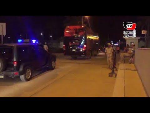 في حراسة الشرطة.. أتوبيس الأهلي يغادر الاستاد بعد التعادل مع الترجي