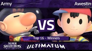 Ultimatum  - GBSG SM | Army (Olimar) vs FX | Awestin (Ness) Top 16 - Winners - SSBU