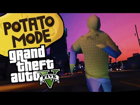 We Turned GTA 5's Graphics Into Mud | Potato Mode