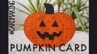 Halloween serie - pumpkin card