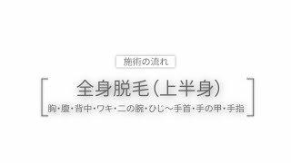 メンズリゼ、全身脱毛(上半身)動画