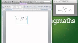 Learn how to type an equation in Microsoft Word