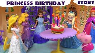 Play Doh Birthday Surprise Peppa Pig Frozen Elsa Anna Cinderella Story Disney Princesses Thomas