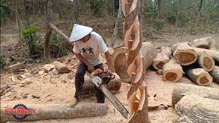 AMAZING SCLUPTURE   REAL TIME CHAINSAW TUTORIAL