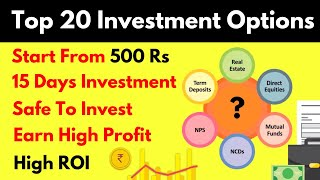 Top 20 Best Investment Options In India