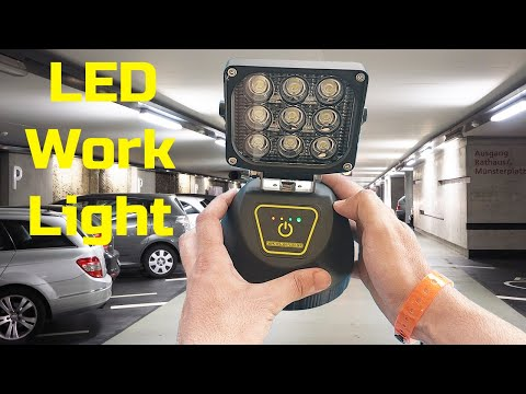 Best Portable LED Work Light From WEISIJI For Multi Usage : Unboxing & Test