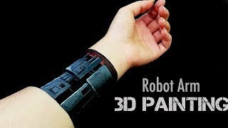 3D Trick Art | Robot Arm Illusion | Time Lapse Painting