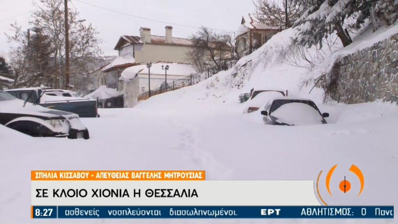 Σε κλοιό χιονιά η Θεσσαλία | 15/02/2021 | ΕΡΤ