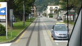 preview picture of video 'Italian Trains: Bernina Railway, Cab view; Tirano departure, 17 Sep 14'