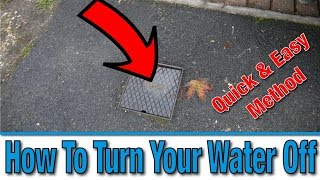 How Do I Turn Off the Mains Water Supply to My House? | Tutorial | DIY Hacks