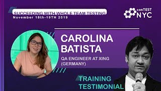 Workshop Testimonial by Carolina Batista