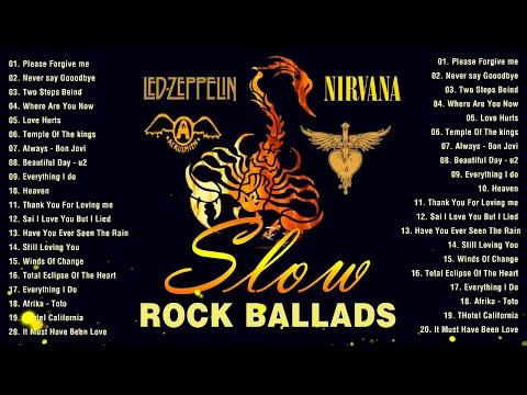 GNR, Nirvana, Bon Jovi, Scorpions, Aerosmith   Best SLow Rock Ballads Collections