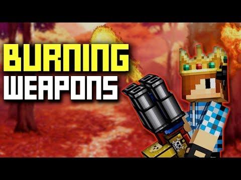 BURNING WEAPONS OP - IN Pixel Gun