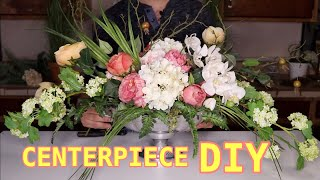 Easy Floral Centerpiece / Floral Arranging DIY ( Long And Low )