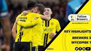 MATCH HIGHLIGHTS | Burton Albion 3-1 Wycombe Wanderers