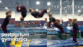 gymnastics after a baby | the east fam