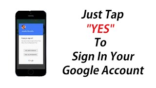Just tap YES to sign in your google account