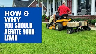 How & Why You Should Core Aerate Your Lawn - DIY Plug Aeration