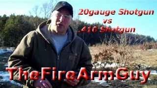 20 gauge Shotgun vs .410 Shotgun - Range Test - TheFireArmGuy