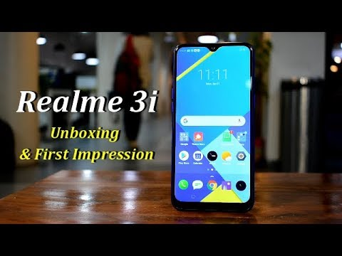 Realme 3i Unboxing & 1st look: Design is a strong point