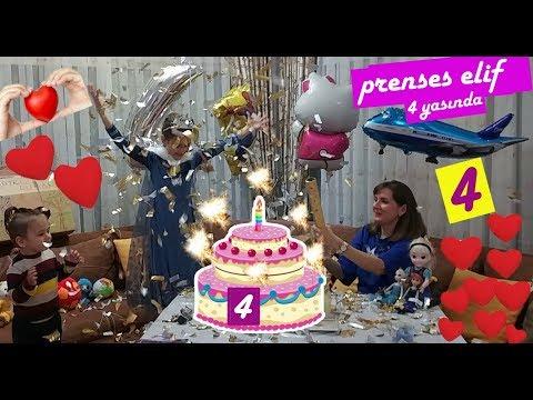 Prenses elif 4 yaşında. Karlar ülkesi kraliçe Elsa doğum günü pastası kutlama swen, barbie,