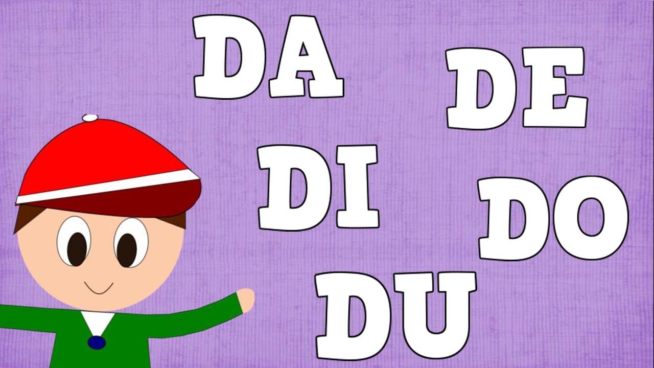 Sílabas DA DE DI DO DU - Syllable with D - Aprender a Leer