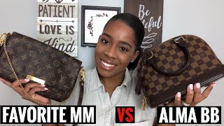 LOUIS VUITTON FAVORITE MM Vs ALMA BB  Review, Pros And Cons