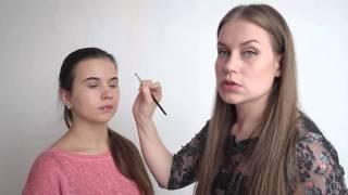 Смотреть онлайн Урок окрашивания бровей хной Profhenna