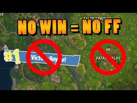 NO WIN = NO FATAL FIELDS │Fortnite: BR