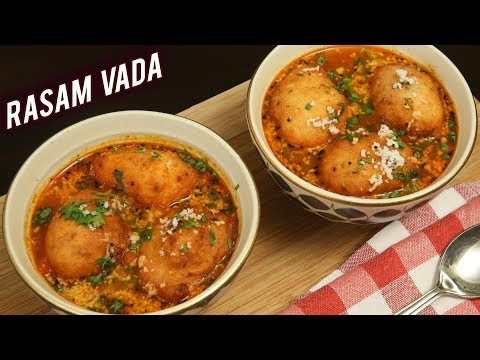 Udupi Style : Rasam Vada – Rasam Bonda | How To Make South Indian Recipe – Rasam Vada | Ruchi