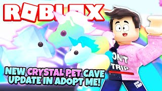 Secret Location New Crystal Pets In Adopt Me New Adopt Me Neon Cave Update Roblox Minecraftvideos Tv