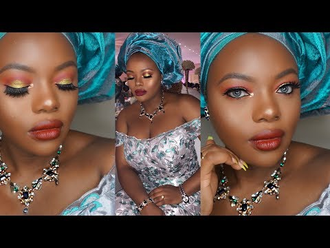NIGERIAN TRADITIONAL PARTY/BRIDAL MAKEUP TUTORIAL