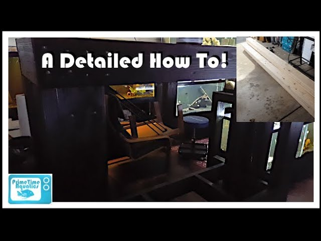 Fish Room Update - How to Build a Fish Tank Stand