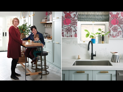 Colorful Small Kitchen Makeover
