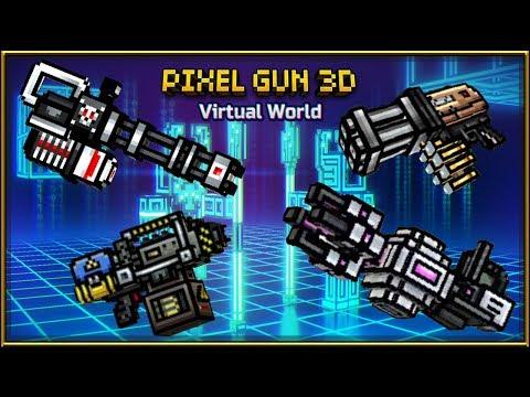Pixel Gun 3D - Miniguns Set Gameplay
