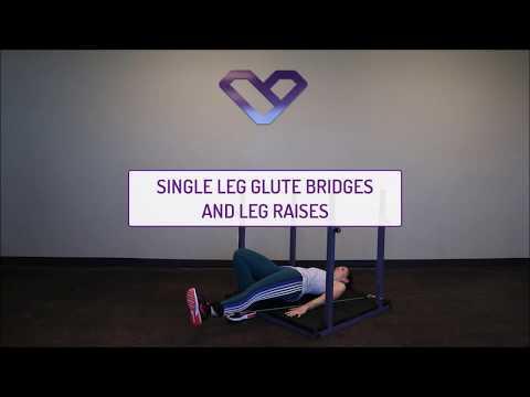 Single Leg Glute Bridges and Leg Raises