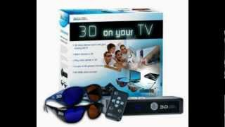 3D Video Wizard Console with 2 Pack of 3D Adult Glasses