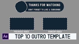 outro template after effects