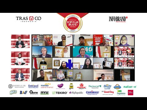 Virtual Award Ceremony Indonesia Dgital Popular Brand Award 2021