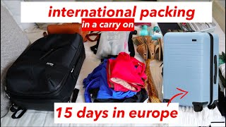 Pack in a Carry On for 15 Days in Europe | AWAY Luggage Bigger Carry On Packing | This or That