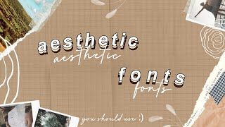 35 Popular Aesthetic Fonts | 2020