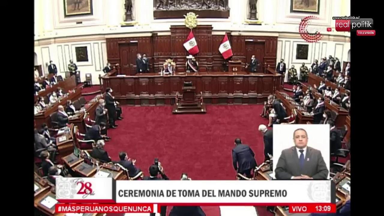 """Pedro Castillo asumió la presidencia de Perú: """"Es la primera vez que gobernará un campesino"""""""
