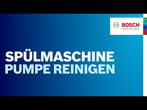 Wie kann ich meine Spülmaschinenpumpe reinigen? | Bosch Geschirrspüler
