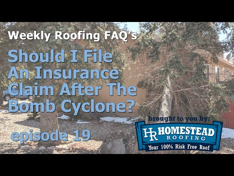 If you're a homeowner, realtor, or insurance agent in the Colorado Front Range area, you or your clients may have been affected by the massive storm, known as the bomb cyclone, on March 13, 2019. But just because you may have been affected, should you file an insurance claim? 