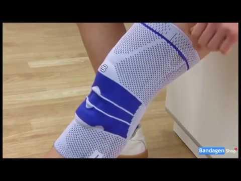 Rückenschmerzen und gibt den rechten Fuß