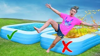 DONT Trust Fall Into The Wrong Mystery Pool - Challenge (Win $10,000 Game Master Spy Gadget)