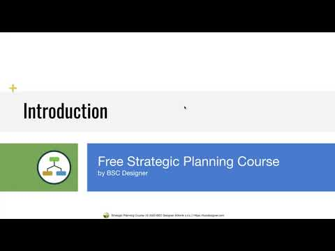 Introduction - Free Strategic Planning Course - YouTube