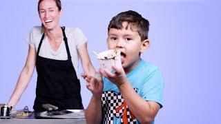 Kids Try Rolled Ice Cream | Kids Try | HiHo Kids